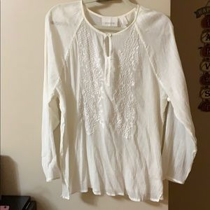Long sleeve shirt sheer